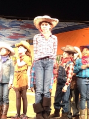 Cowgirl in Pied Piper's Wild West Show
