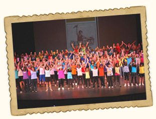 Campers Performing in Middlesex County children's theater show