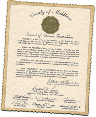 Taubenslag Theater Camp Proclamation - Middlesex
